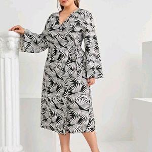 NEW Plus Knot Side Wrap Dress